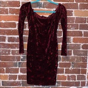 Holiday Velvet form fitting Mini Dress
